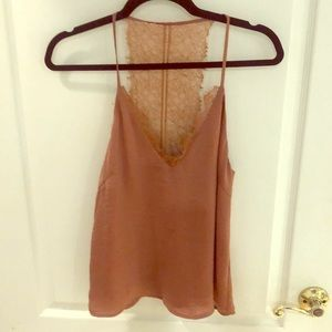 Gorgeous! New copper satin and lace camisole.